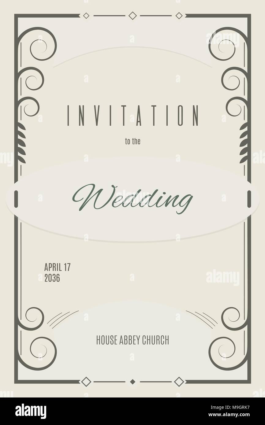 Wedding invitation template in pastel colors. Leaflet design Stock ...