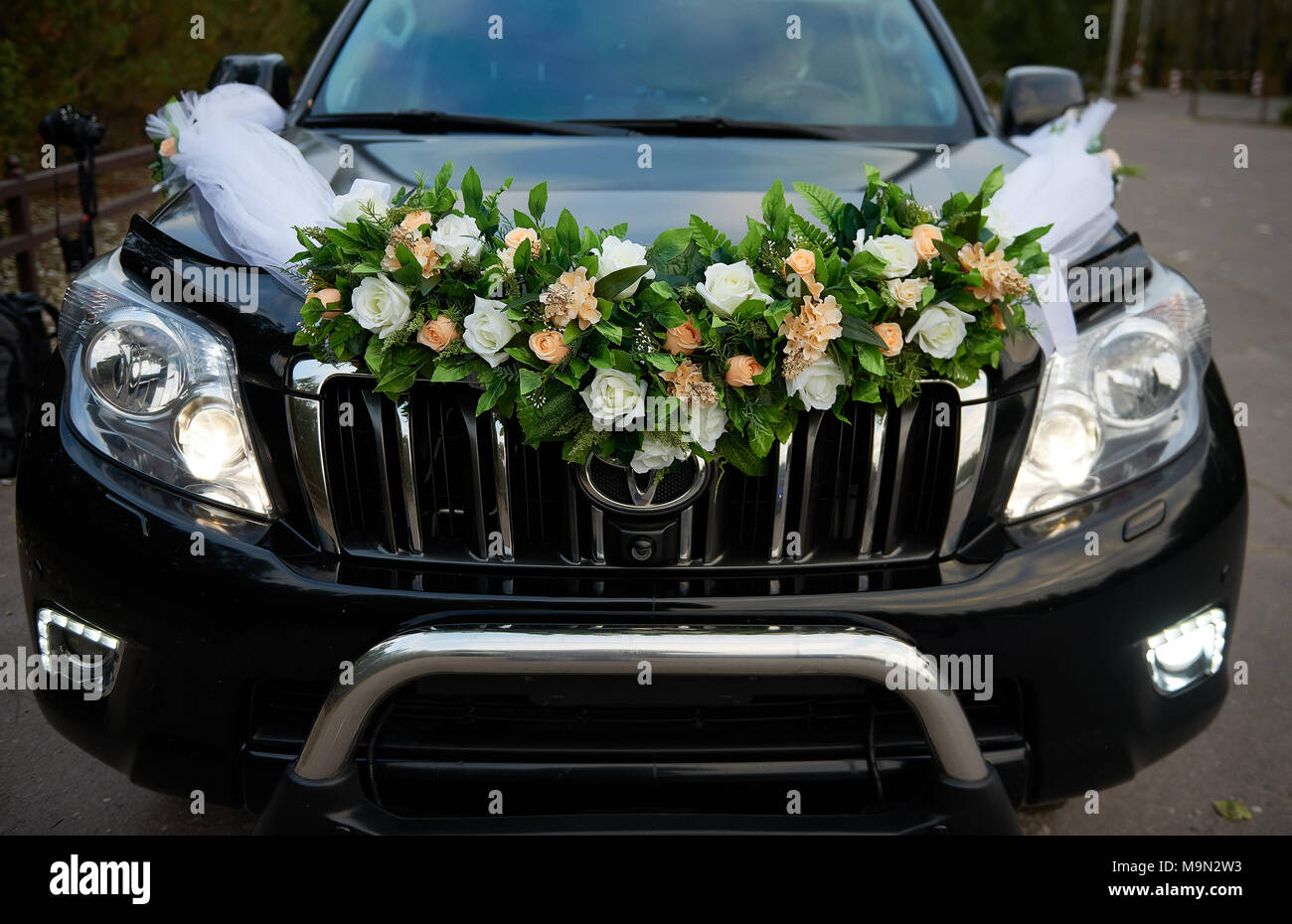 Wedding decoration on wedding car stock photo 178098847 alamy wedding decoration on wedding car junglespirit Image collections