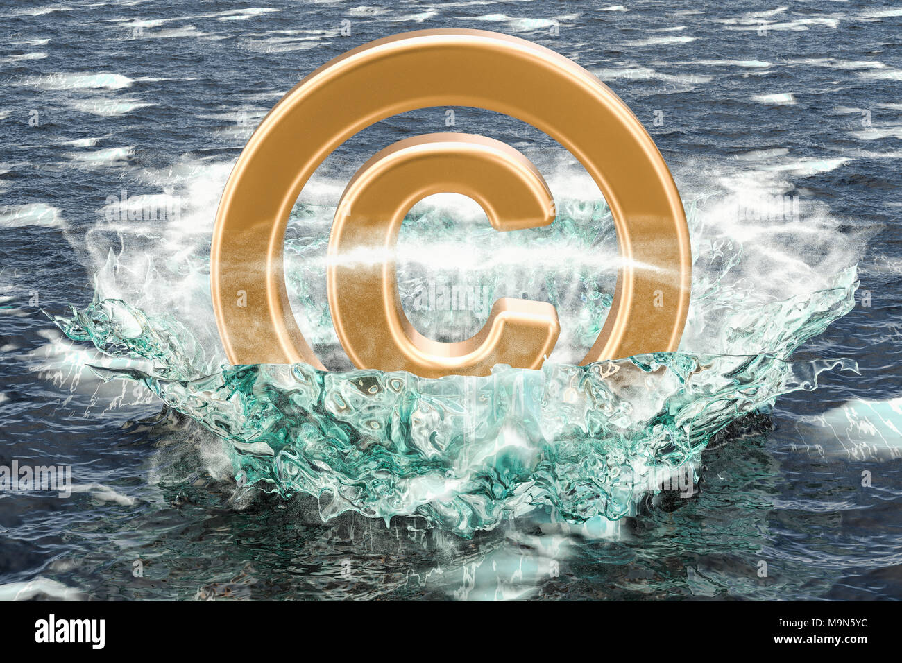 Copyright Symbol In The Sea 3d Rendering Stock Photo 178101264 Alamy