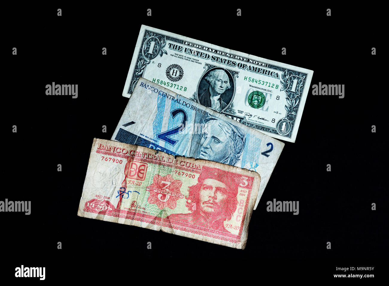 Real brazil currency symbol icon stock photos real brazil currency money from cuba usa and brazil old notes of low denomination stock image buycottarizona Images