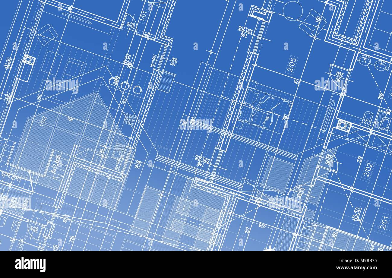 House project blueprint background illustration architectural house project blueprint background illustration architectural backdrop malvernweather Images