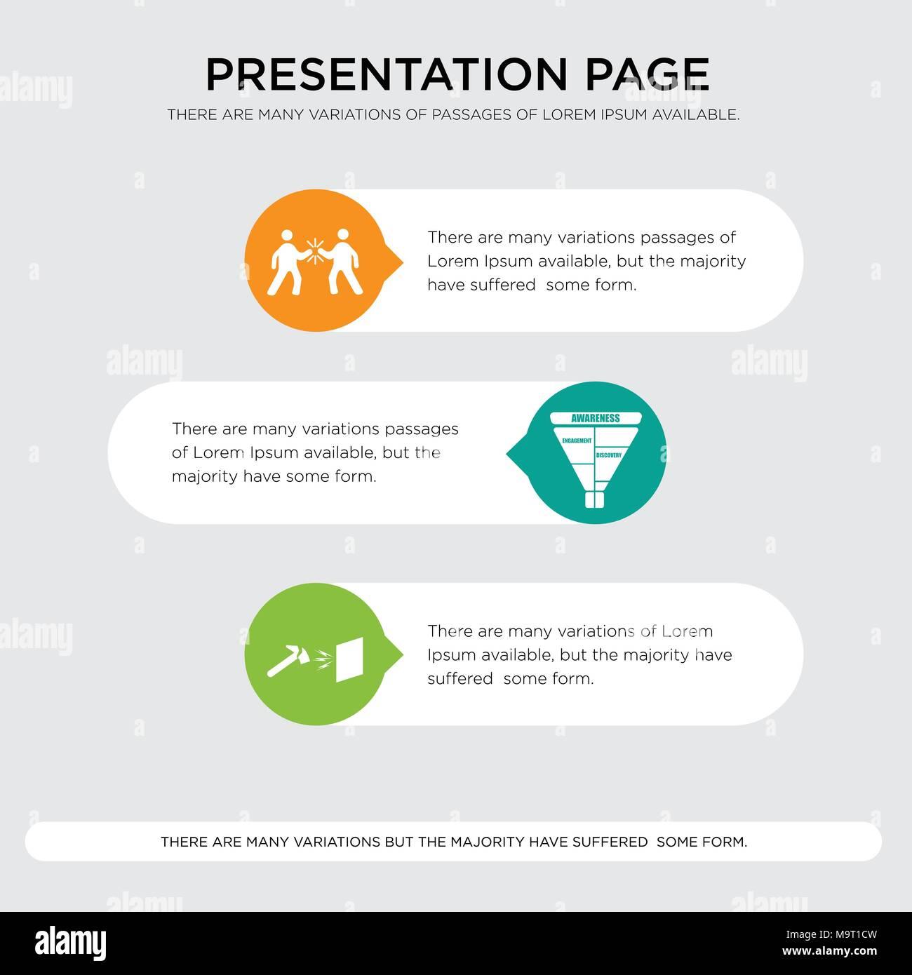 durable marketing funnel high five presentation design template in