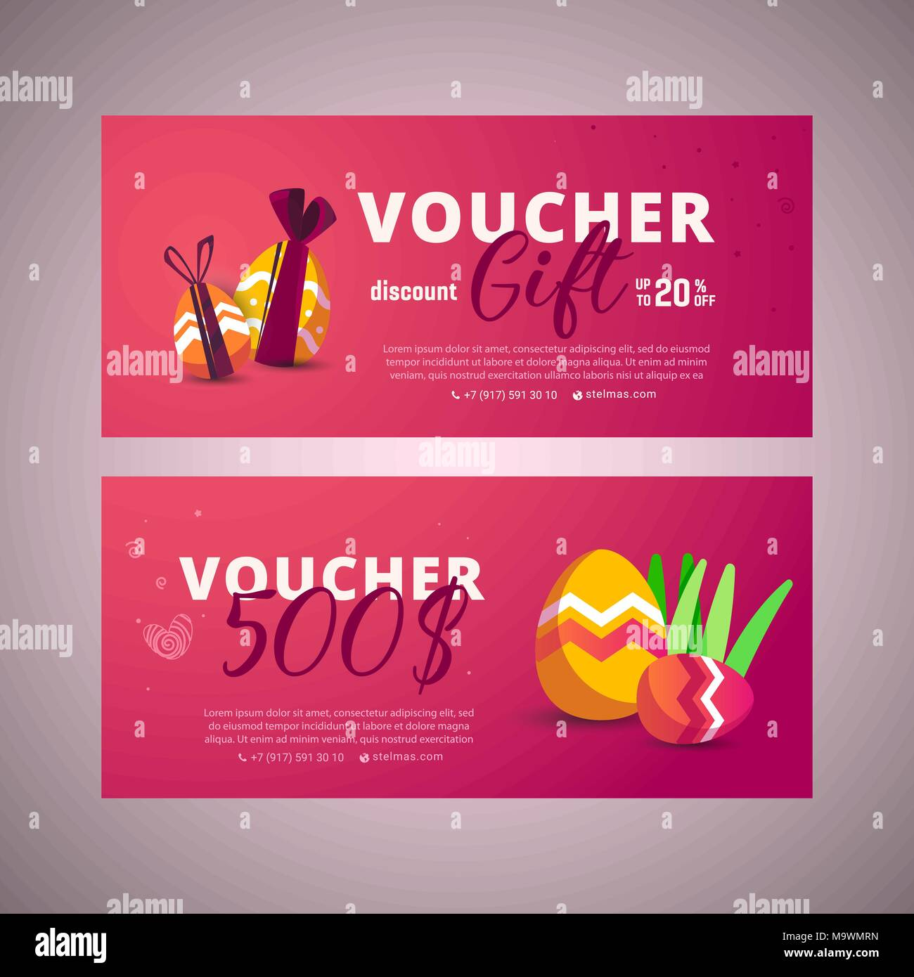 Easter Sale Banner Template Backgroundn Be Used For Voucher