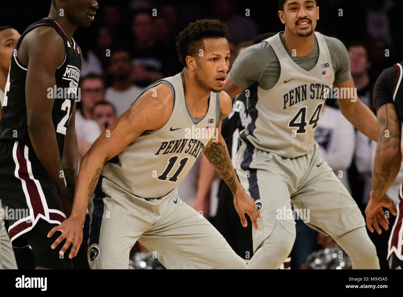 March 27, 2018: at the semi-final of the NIT Tournament game between ...