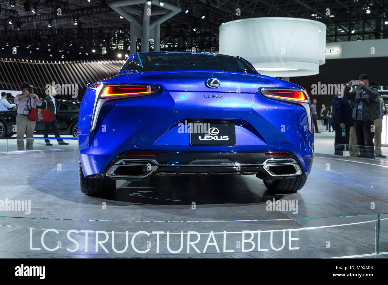 New York Usa 28th Mar 2018 Lexus Lc500 Lc Structural Blue Coupe
