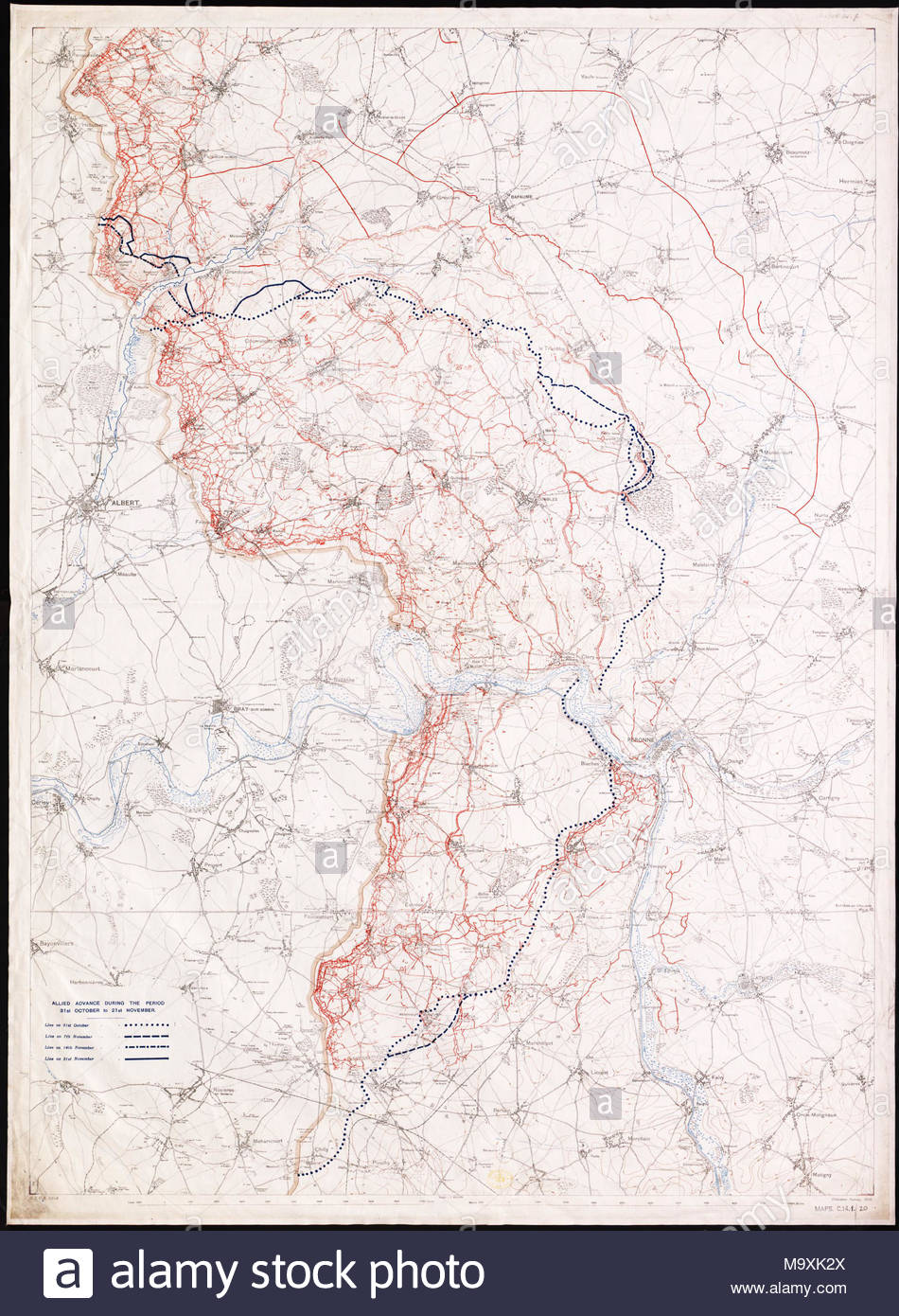 Scale 1:40 000.; Covers area in Picardy and Nord-Pas-de-Calais in ...
