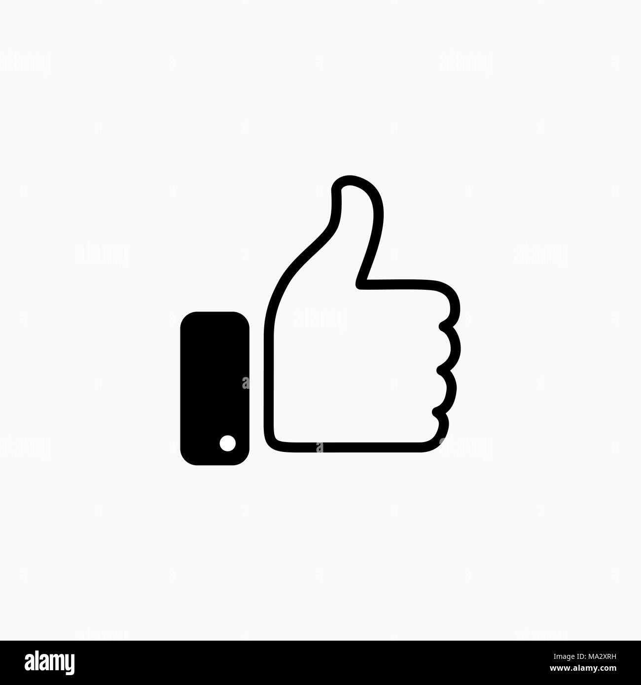 Thumb Up Symbol Finger Up Icon Vector Illustration Like Sign Stock