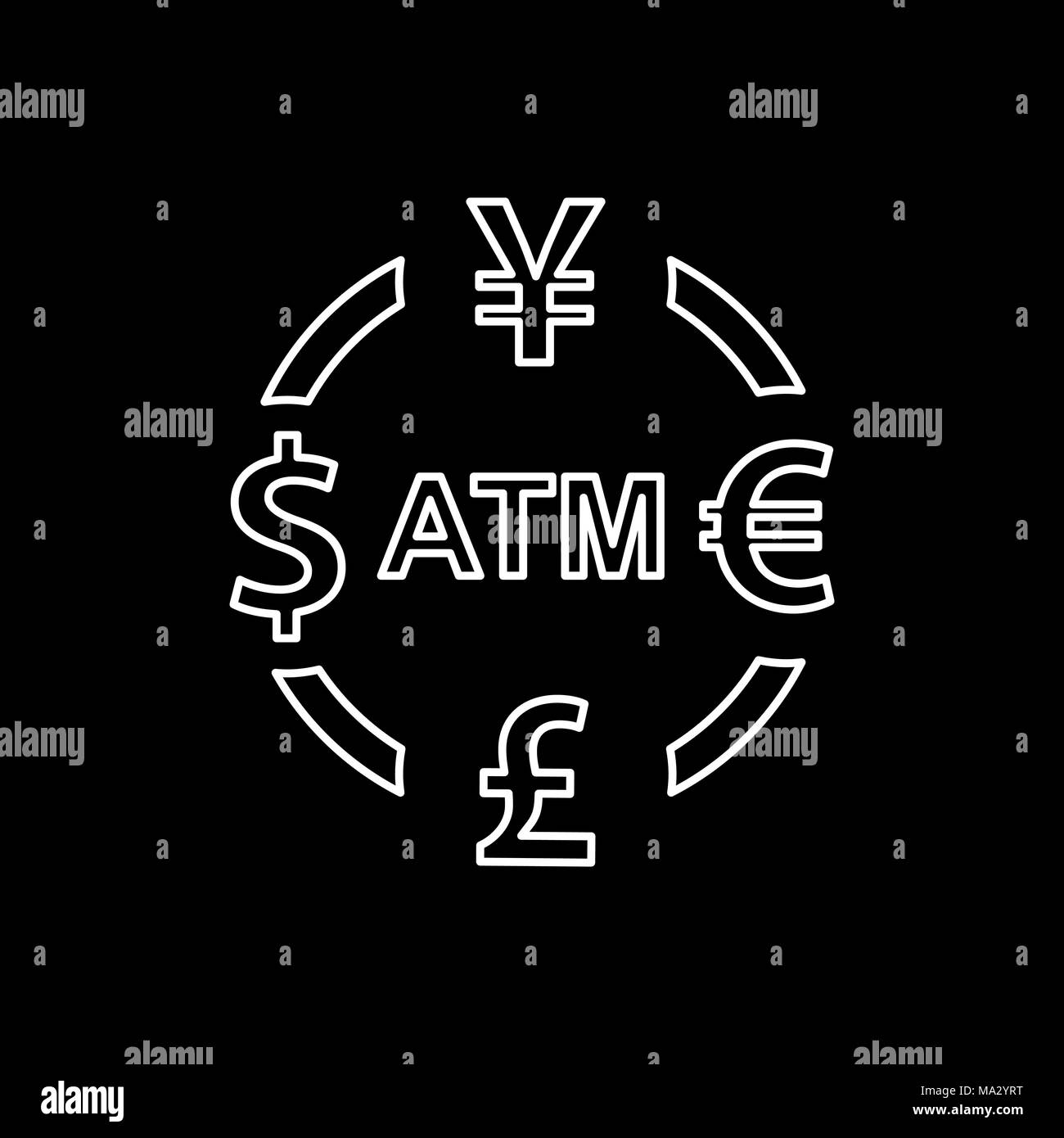 Pound signs stock vector images alamy currency exchange icon dollar yen euro pound atm symbols signs stock vector biocorpaavc Images