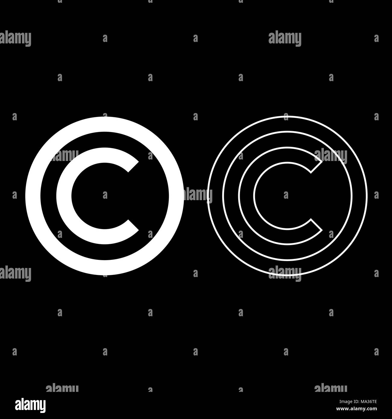 Copyright infringement stock photos copyright infringement stock copyright symbol icon set white color vector illustration flat style simple image stock image buycottarizona Images