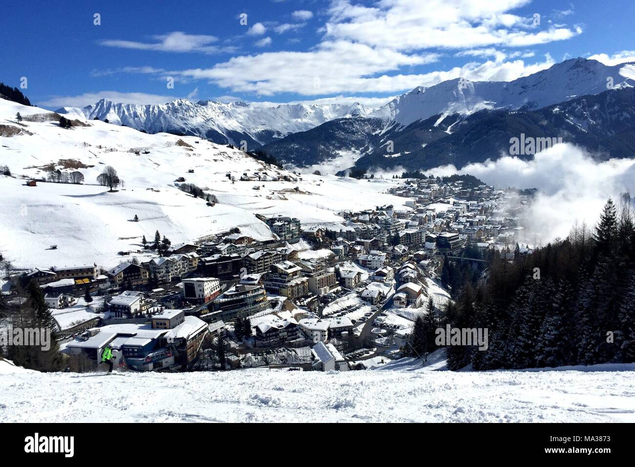 the village of serfaus at the ski resort of serfaus fiss ladis