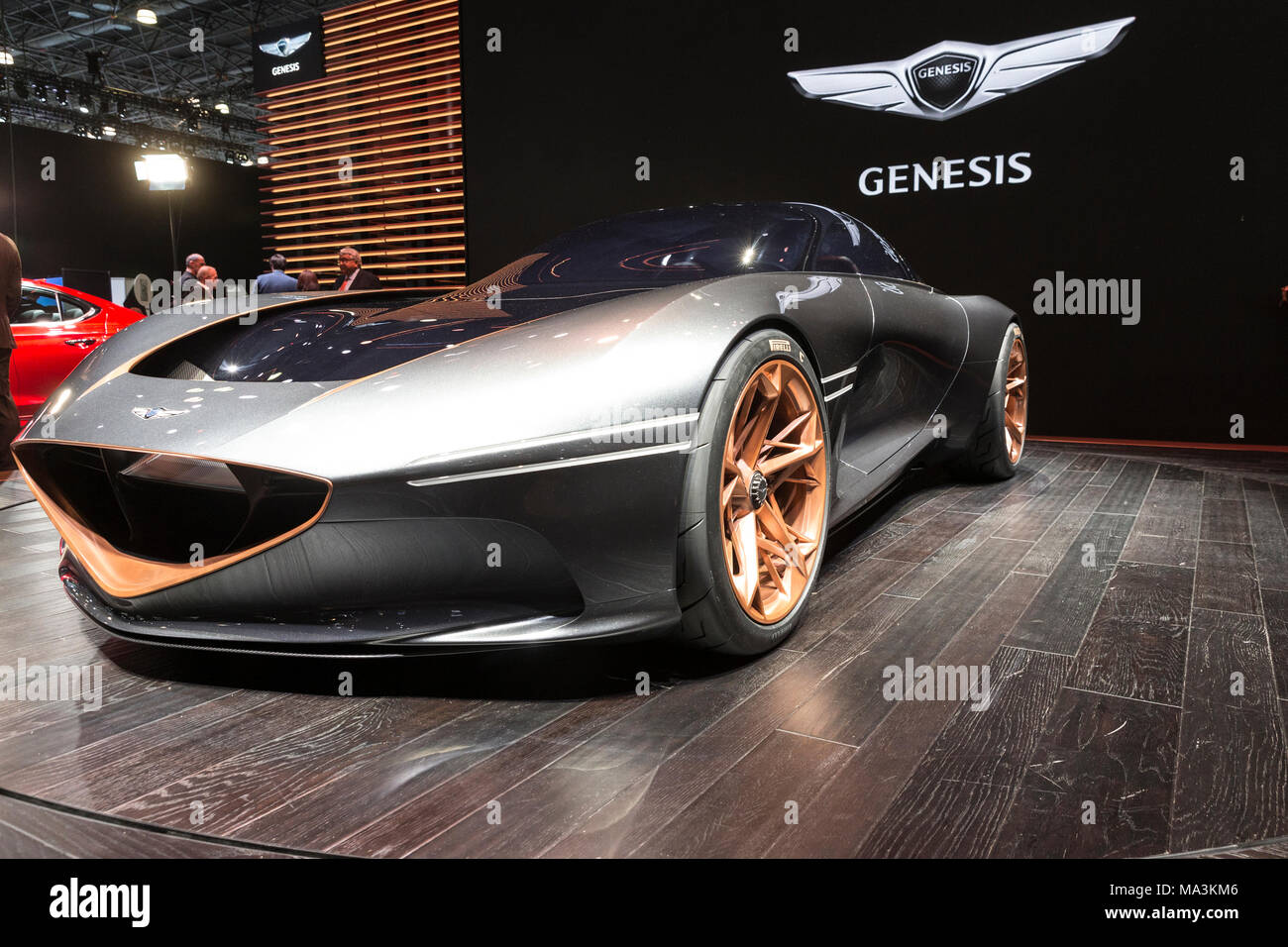 New York NY March Genesis Essentia Concept Car On - Jacob javits center car show 2018