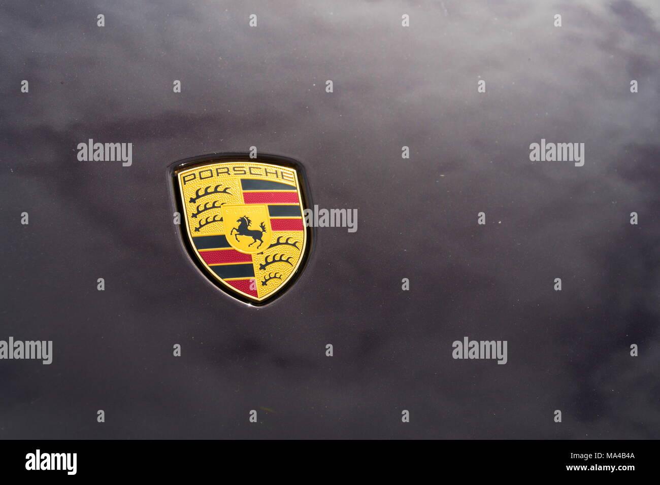Prague Czech Republic March 29 2018 Porsche Automotive Company