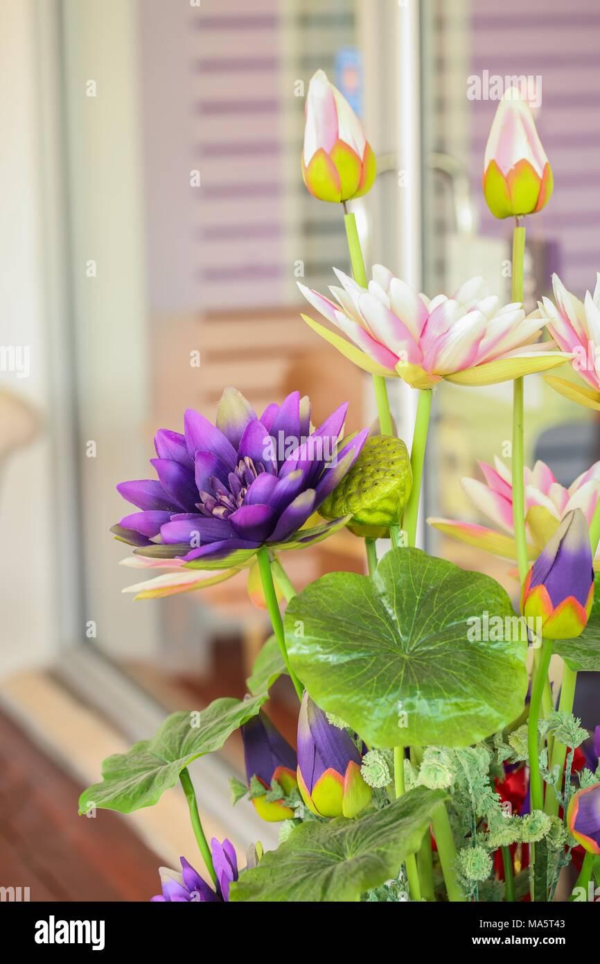 Close Up Artificial Lotus Flower Stock Photo 178378931 Alamy