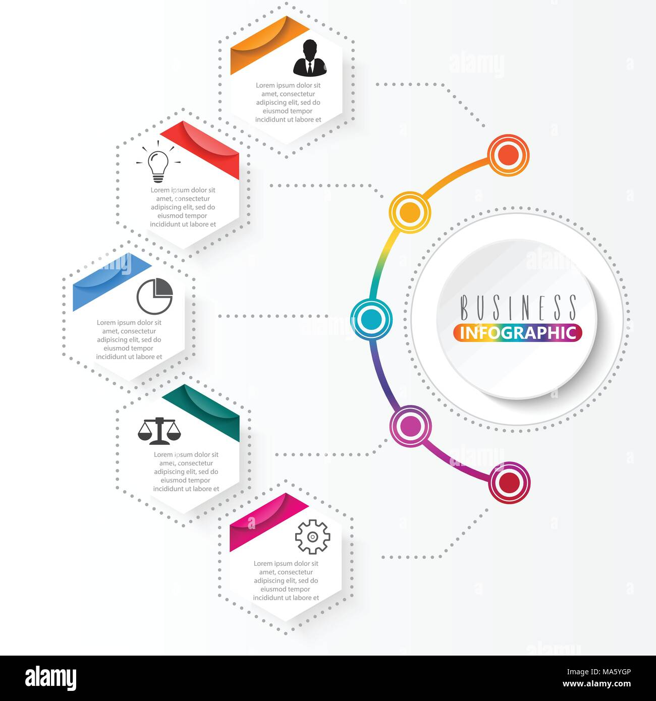 Vector infographic template with 3d paper label integrated circles vector infographic template with 3d paper label integrated circles business concept with options for content diagram flowchart steps parts tim maxwellsz
