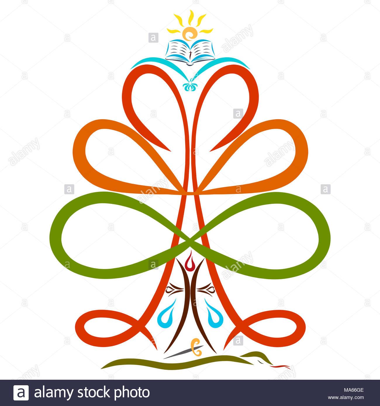 Christian Symbolism The Tree Of Life Stock Photo 178387118 Alamy
