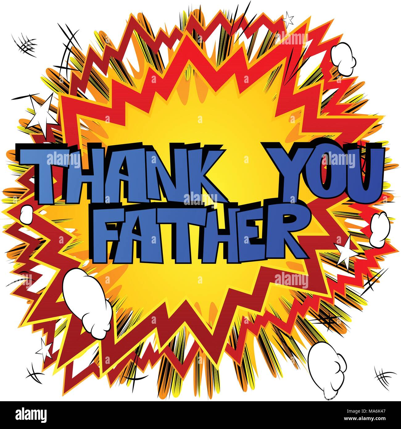 Vector illustrated comic book banner greeting card for fathers day vector illustrated comic book banner greeting card for fathers day with thank you father text m4hsunfo