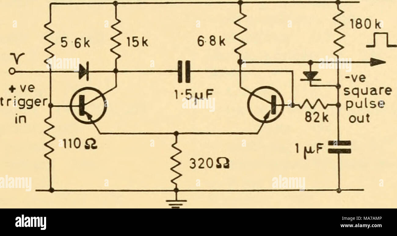 Electronic Apparatus For Biological Research Figure 4555 Capacitor Discharge Circuit Via A Buffer Transistor The Is Discharged By Meter Whose Reading Therefore Proportional To Rate At Which R