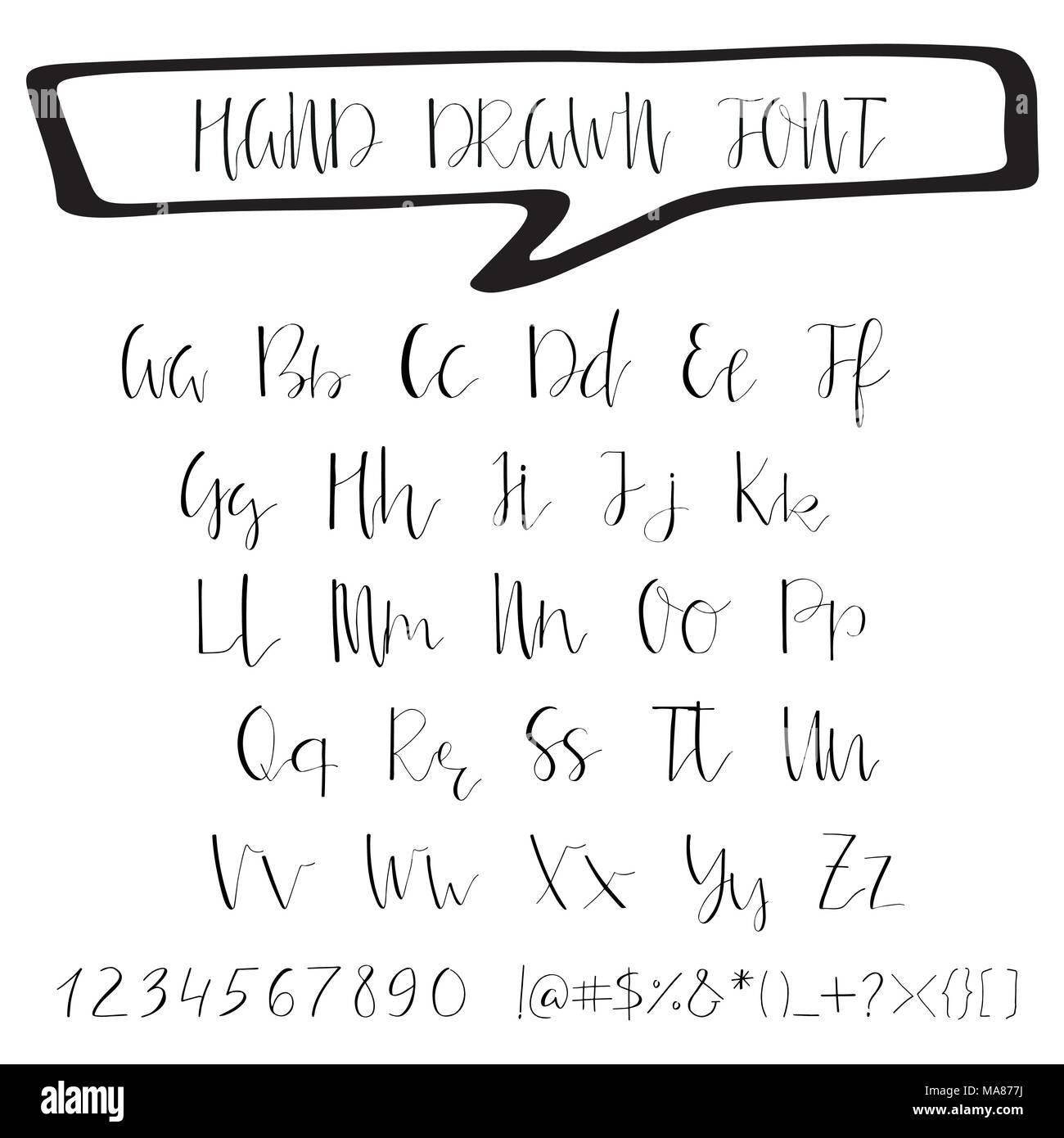 Handwritten calligraphy ink font unique alphabet isolated letters handwritten calligraphy ink font unique alphabet isolated letters can be used for wedding invitation menu save the date postcard poster decora stopboris Gallery