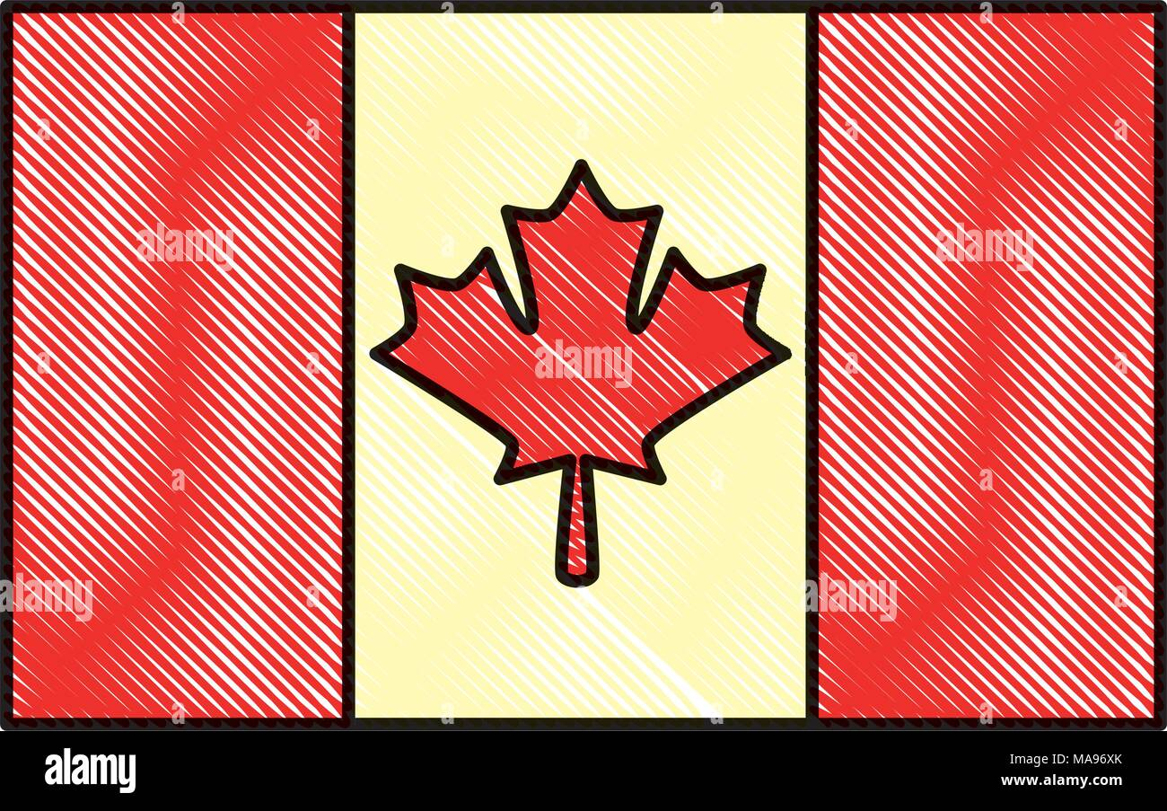 Canadian Symbol National Flag With Maple Leaf Stock Vector Art