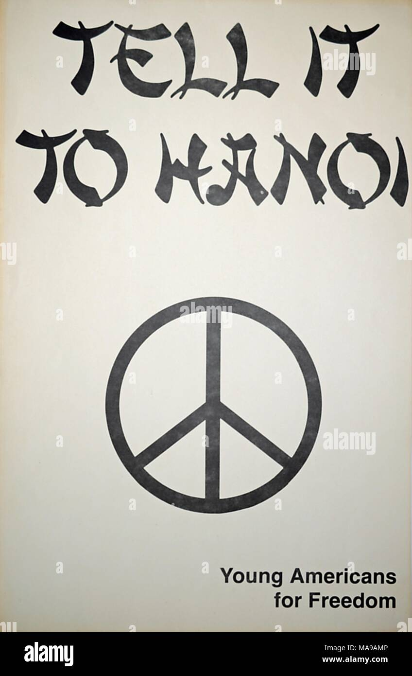 Poster With Slogan Tell It To Hanoi By Young Americans For Freedom