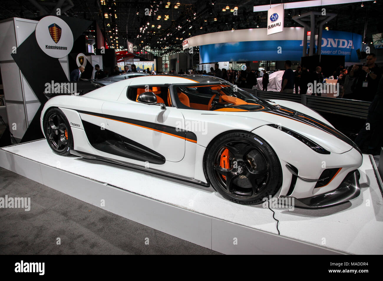 NEW YORK CITYMARCH Koenigsegg Rogerea Shown At The New York - Car show 2018 nyc