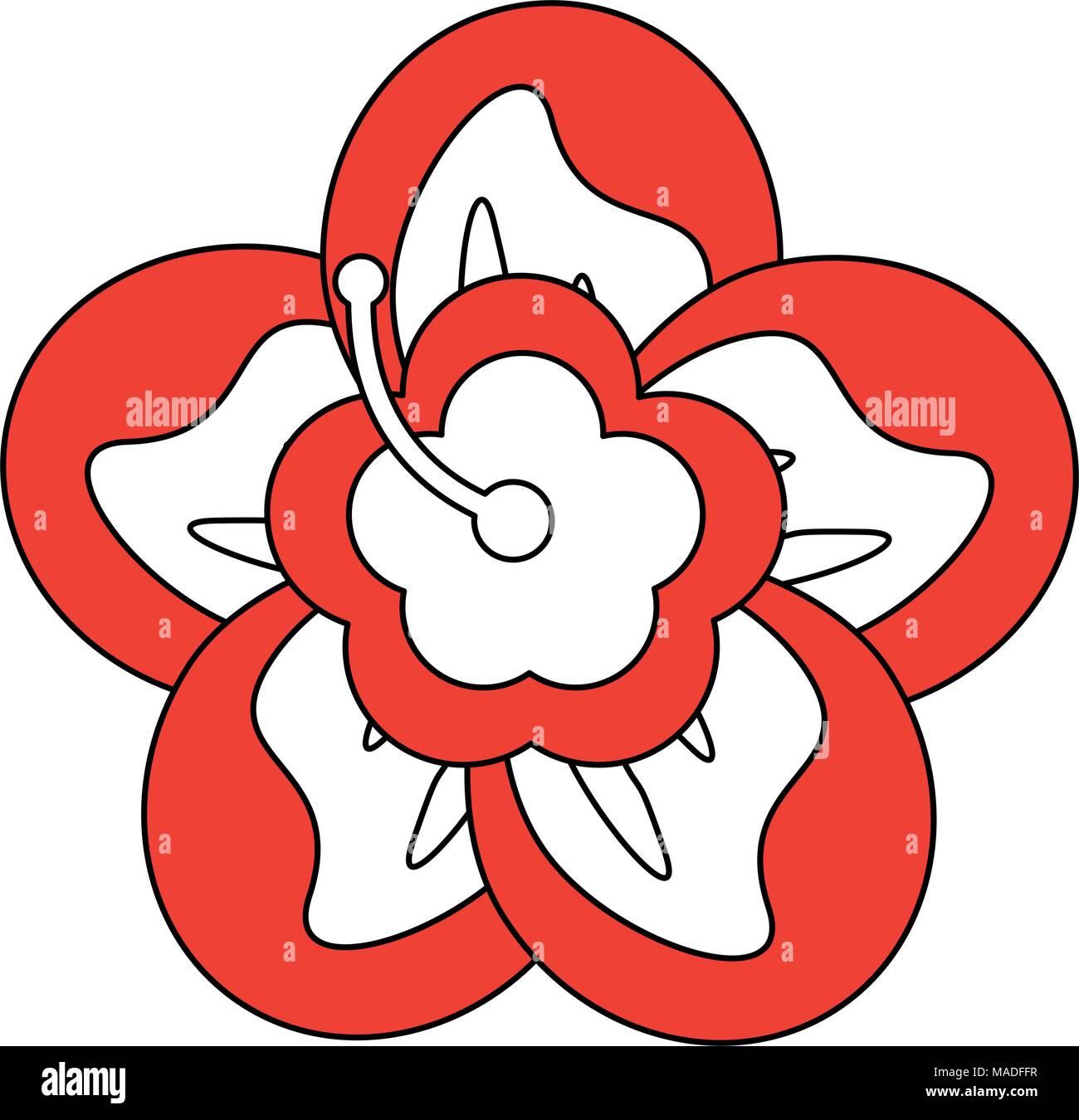 Beautiful Flower Cartoon Stock Vector Art Illustration Vector