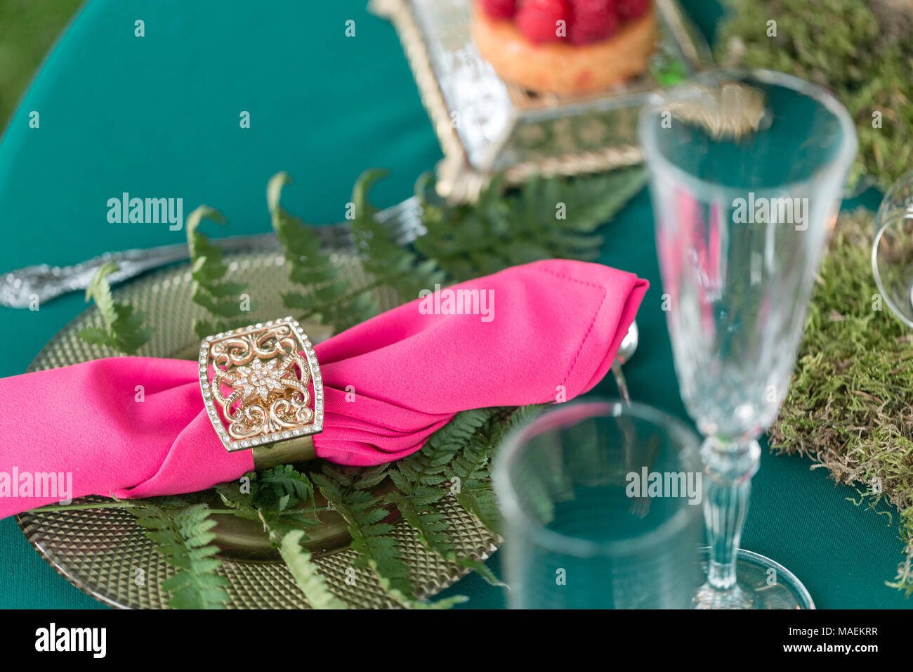 Table Setting Wedding Decor In The Magic Forest For A Loving Couple