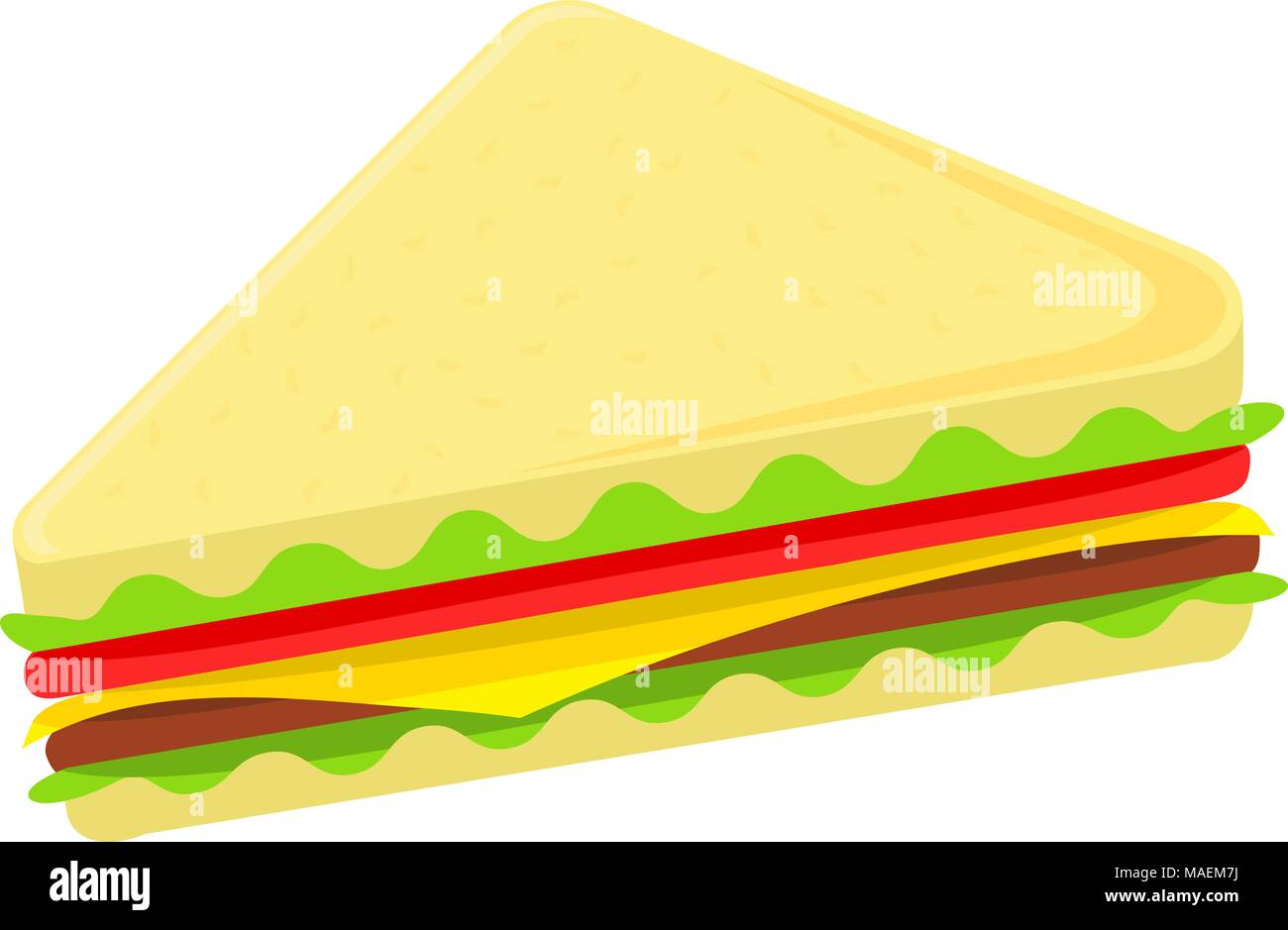 colorful cartoon sandwich icon poster comfort fast food vector