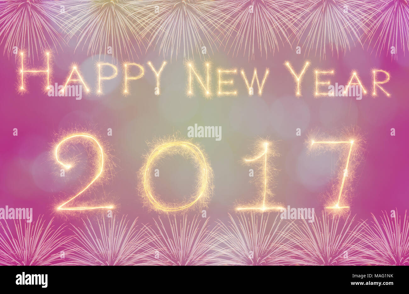 Happy new year 2017 written with sparkle firework on black happy new year 2017 written with sparkle firework on black background celebration and greeting cards concept m4hsunfo