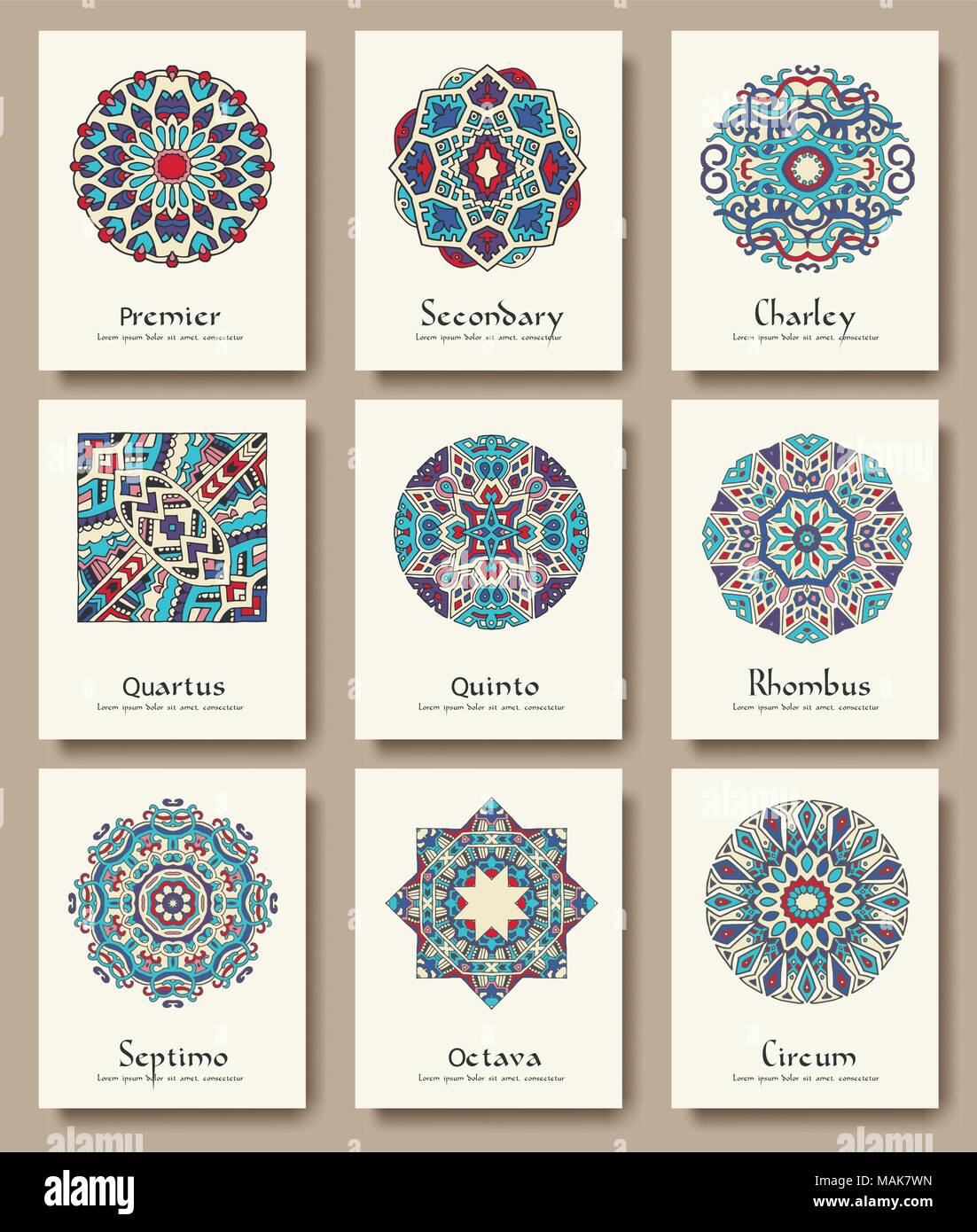 Set of traditional flyer pages ornament set illustration concept vintage art traditional islam arabic indian ottoman motifs elements vector decorative retro greeting card or invitation stopboris Images