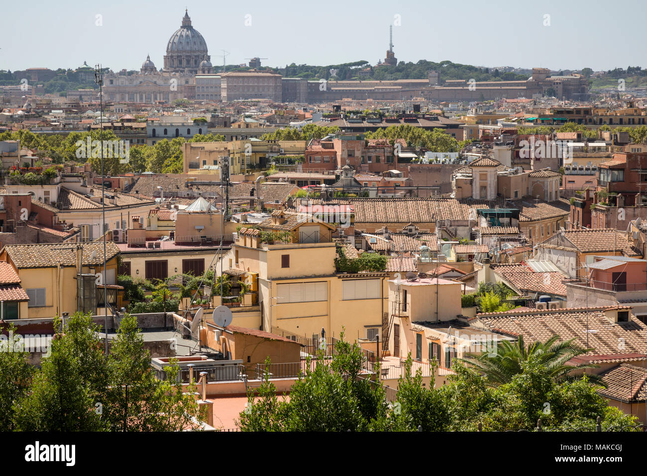 View from Terrazza del Pincio looking across the city skyline ...