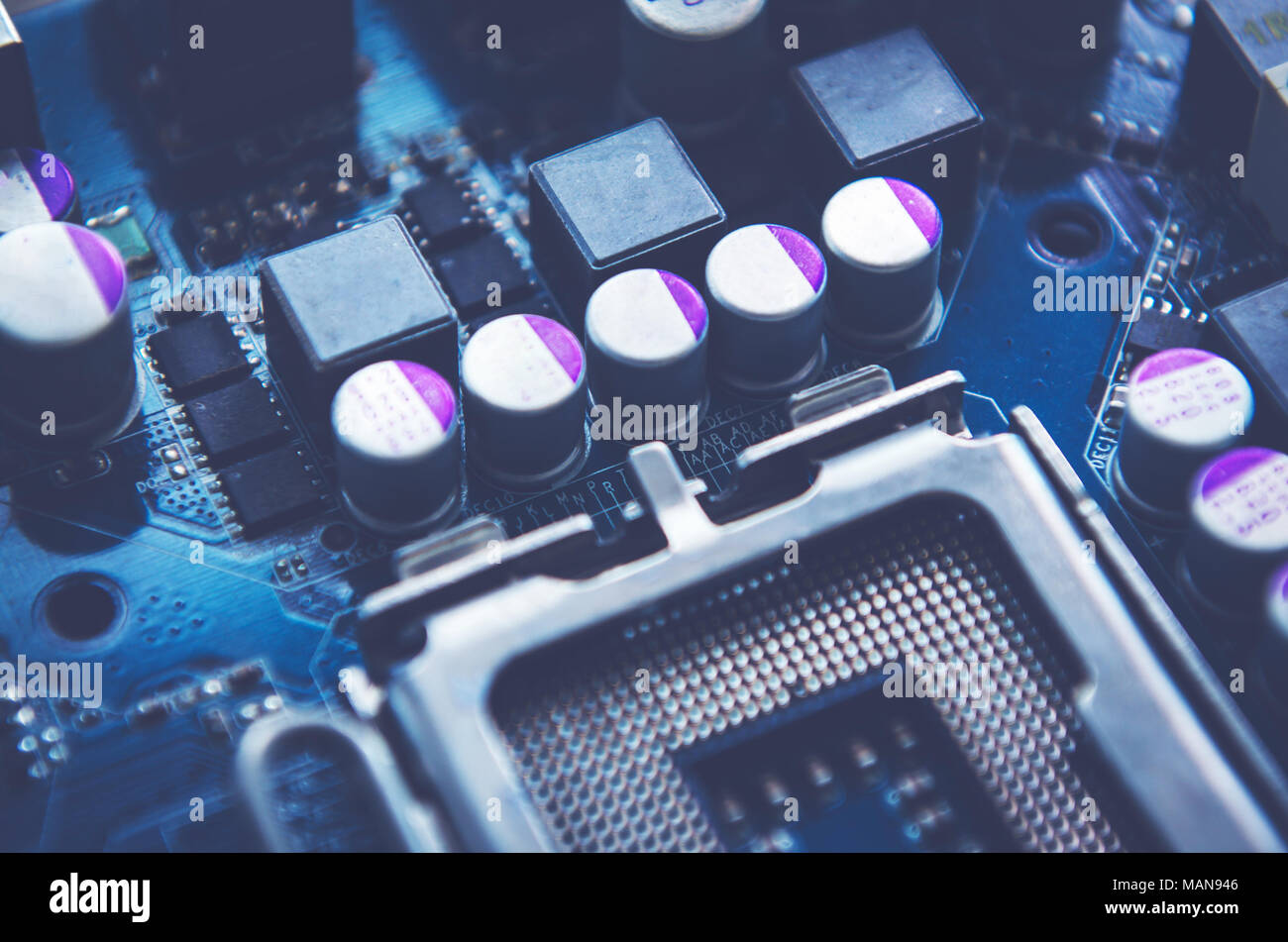 Creative Abstract Electronic Industry Business Technology Concept Pics Photos Pcb Circuits Computers Components Macro View Of The Group Computer Pc Motherboard Or Mainboard Circuit Board W