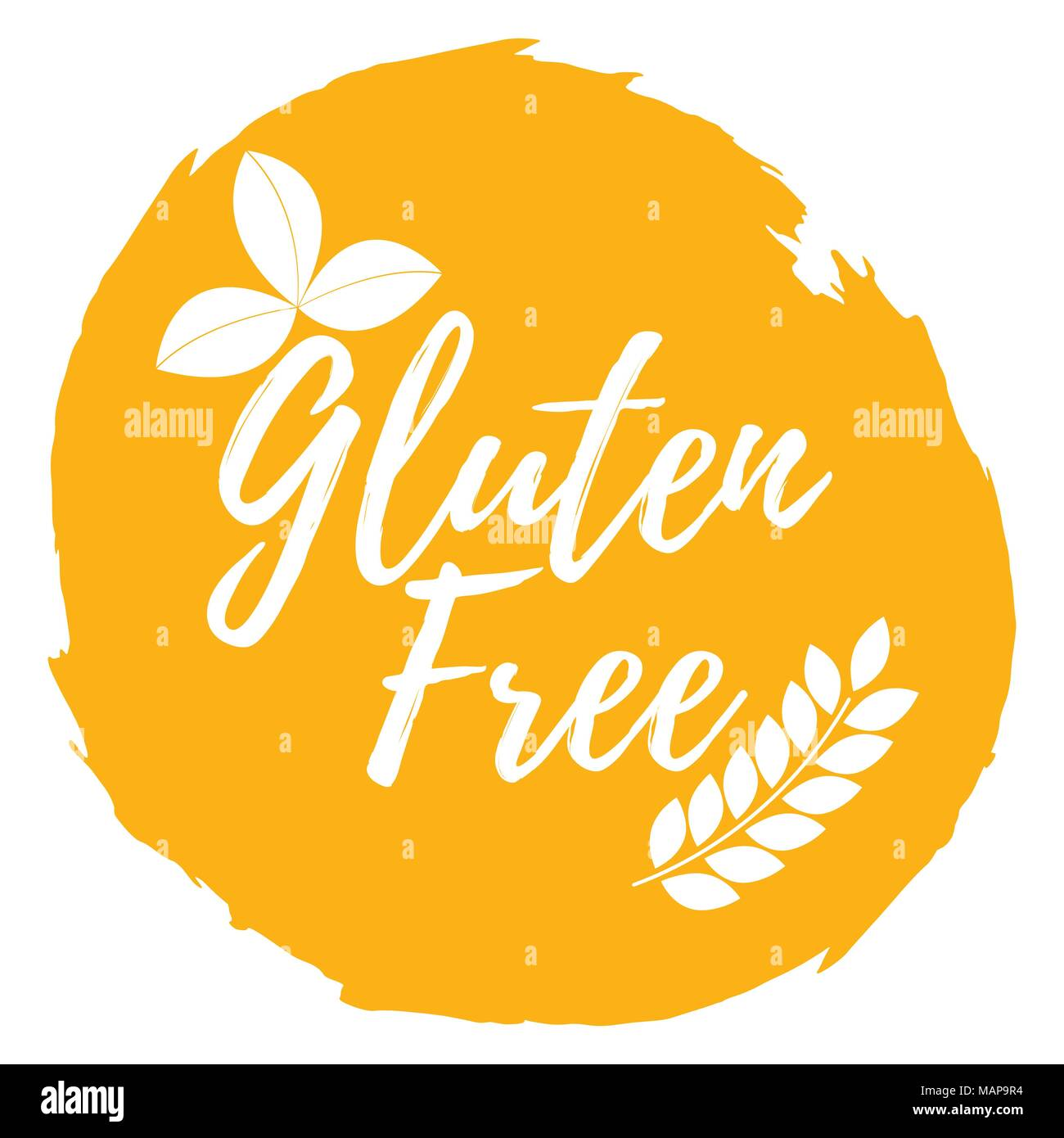 Gluten Free Label Healthy And Organic Food Font With Brush Food