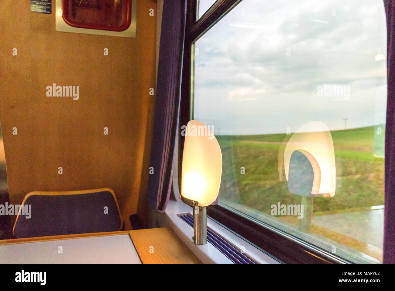 dining car interior stock photos dining car interior stock images alamy. Black Bedroom Furniture Sets. Home Design Ideas