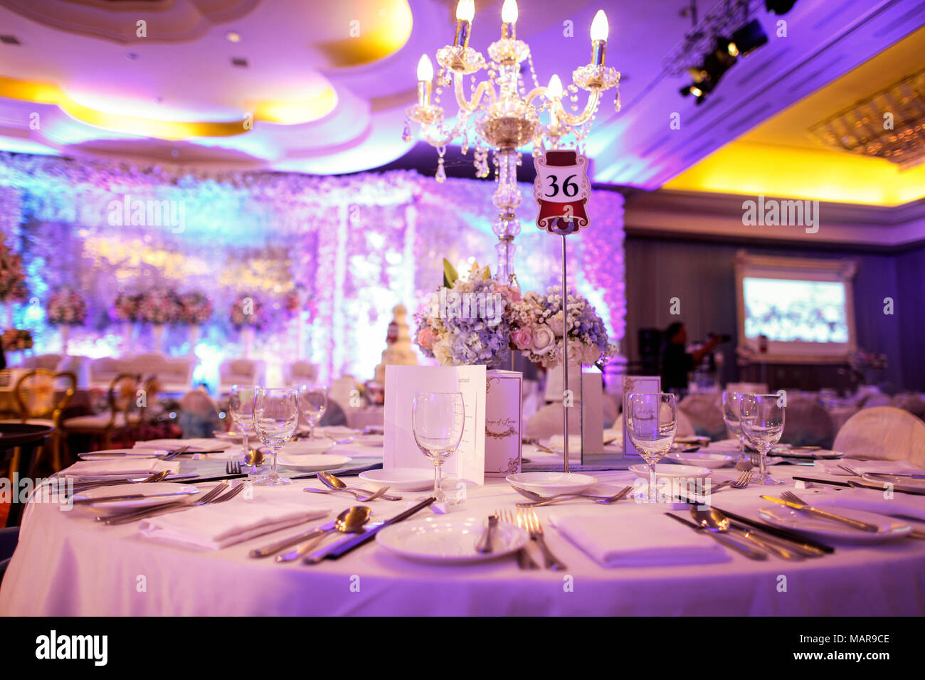 Decoration of formal event Stock Photo: 178762542 - Alamy