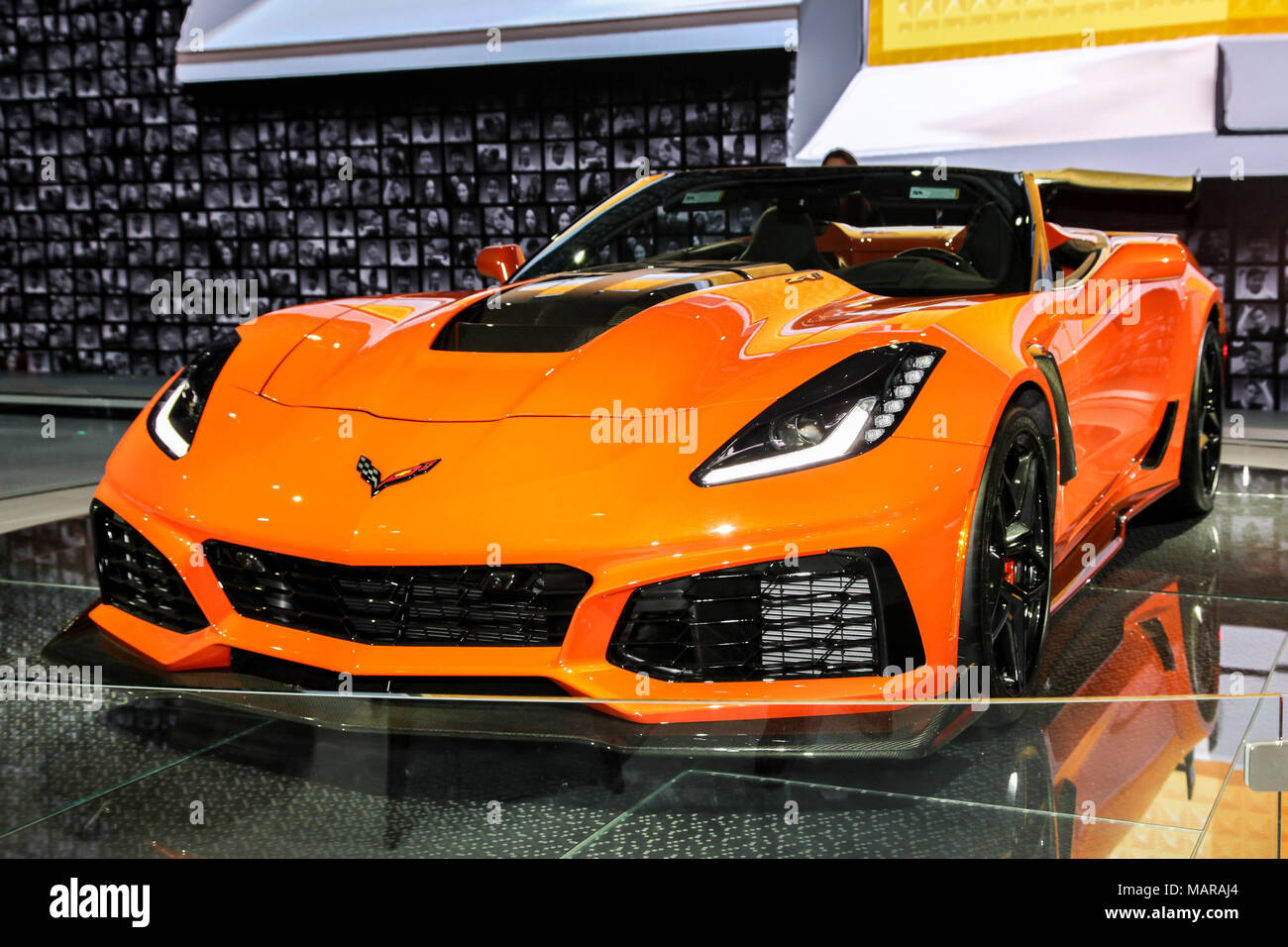 New York City Th Mar Chevrolet Corvette ZR Shown At The - Jacob javits center car show 2018