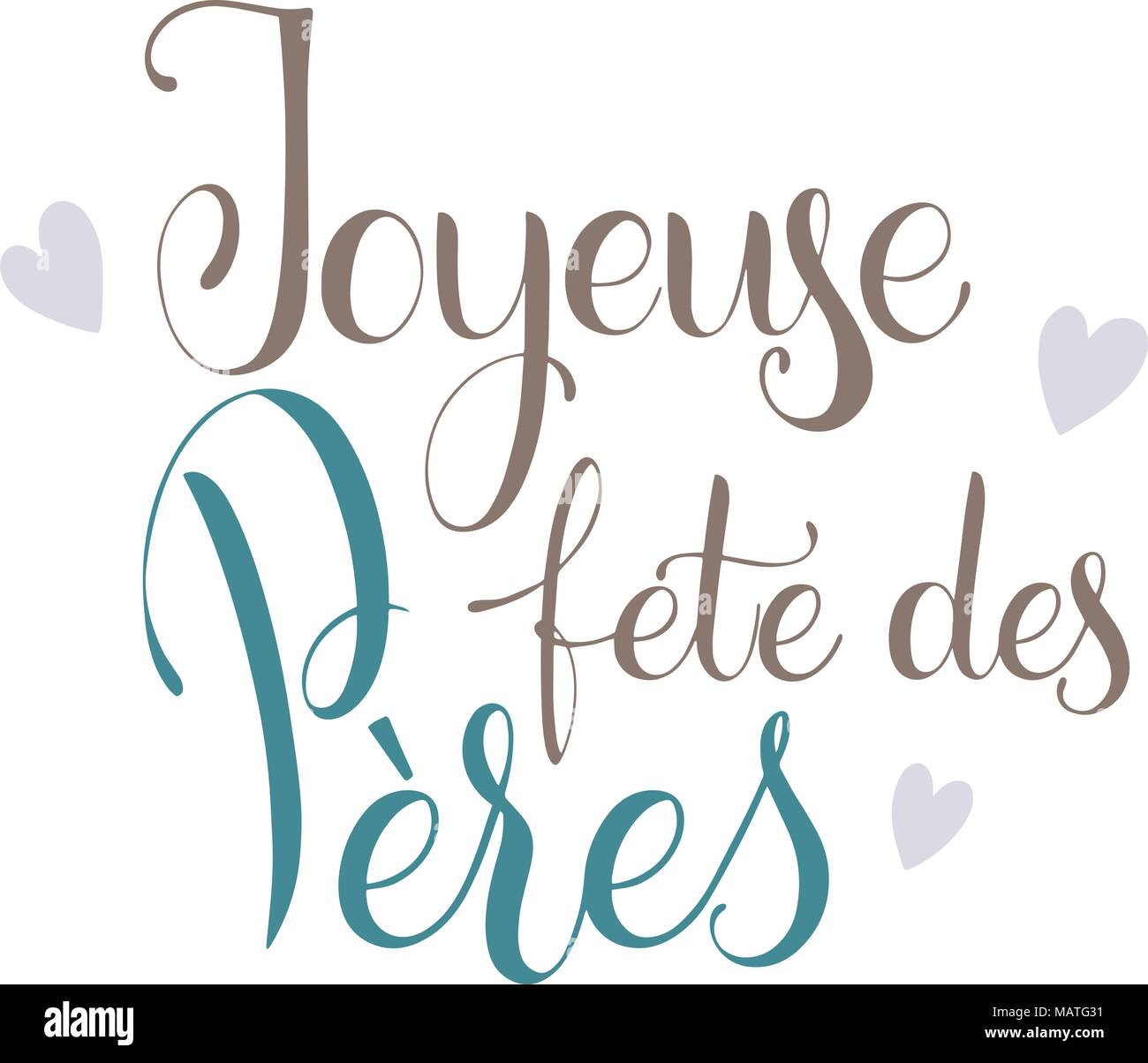 Happy father day lettering happy father day on french greeting happy father day on french greeting card design hand drawn text m4hsunfo