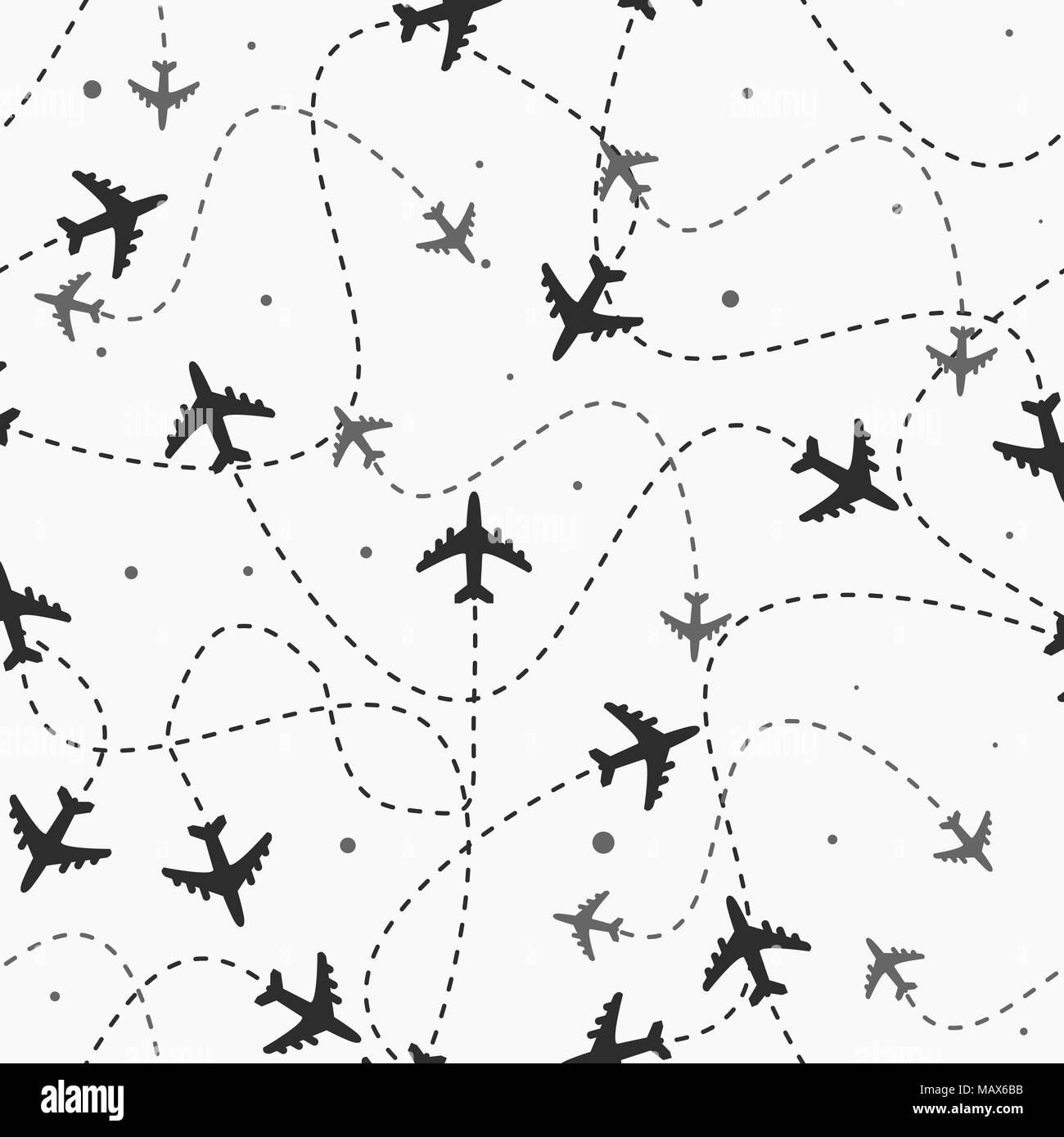 Travel Around The World Airplane Routes Seamless Pattern Background Vector Endless Texture Can Be Used For Wallpaper Fills Web Pagebackg