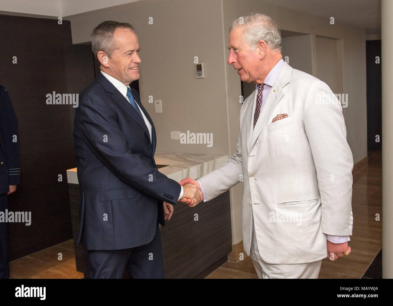 The Prince Of Wales Right Meeting With Leader Of The Australian