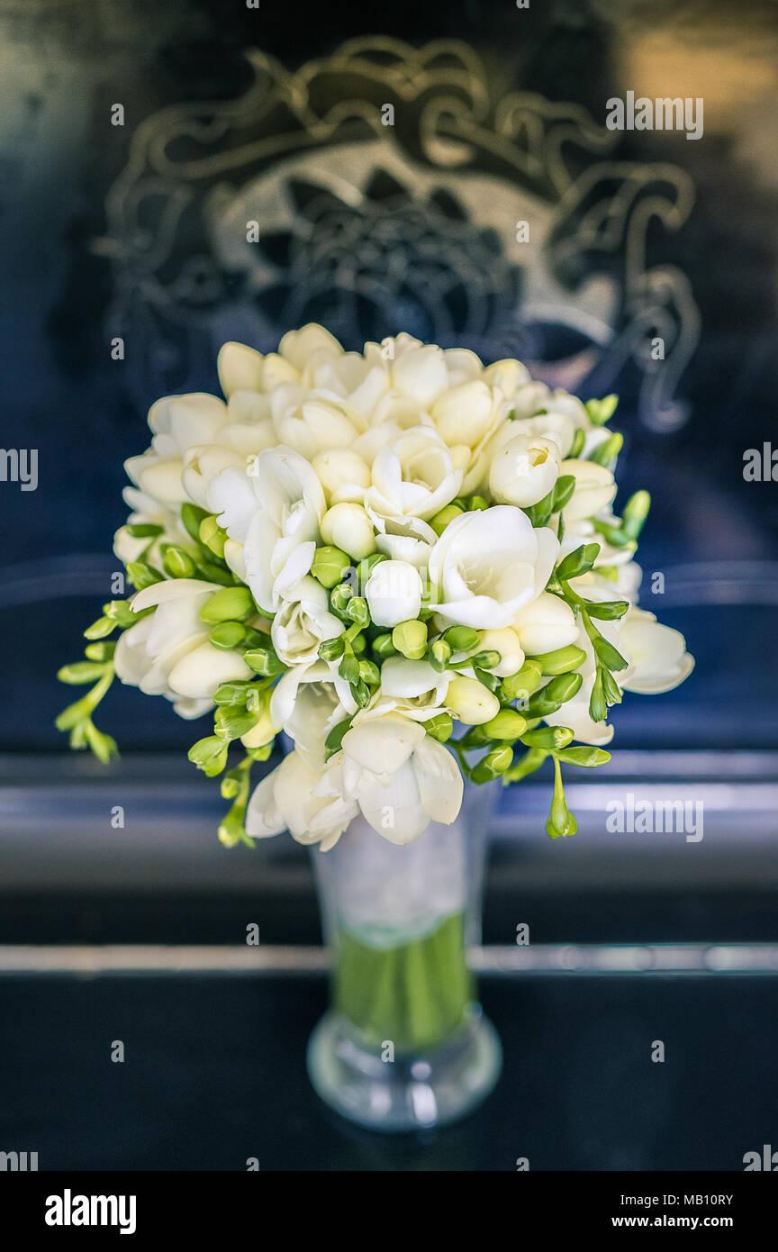 Freesia White Flower Bouquet Stock Photo 178887519 Alamy