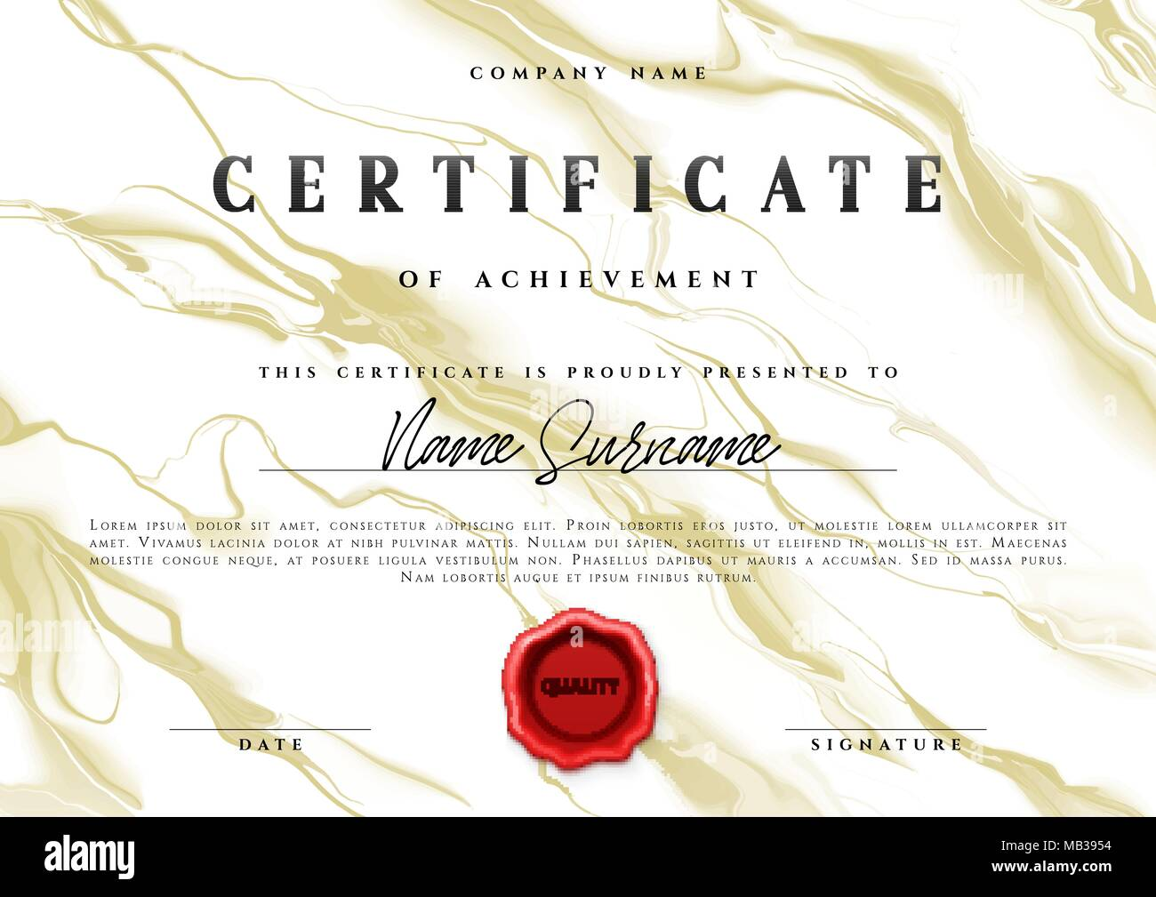 Certificate appreciation creative template stock photos template design of the certificate vector diploma stock image 1betcityfo Gallery