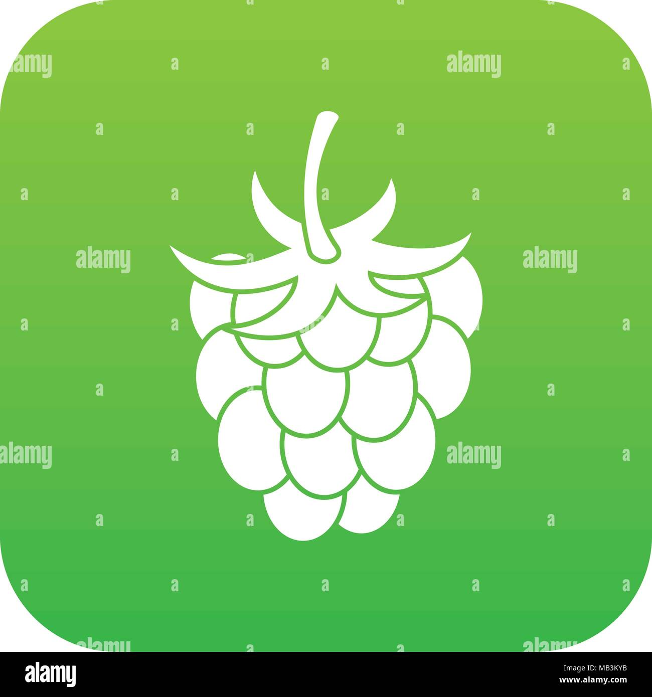 Raspberry Or Blackberry Icon Digital Green Stock Vector Art