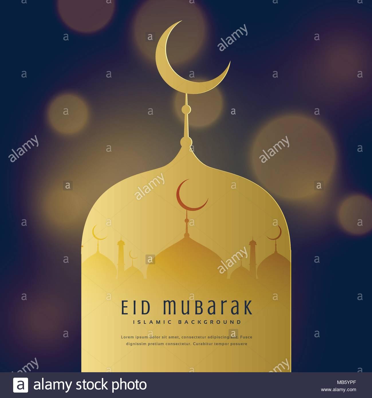 Eid mubarak greeting card design background stock vector art eid mubarak greeting card design background m4hsunfo
