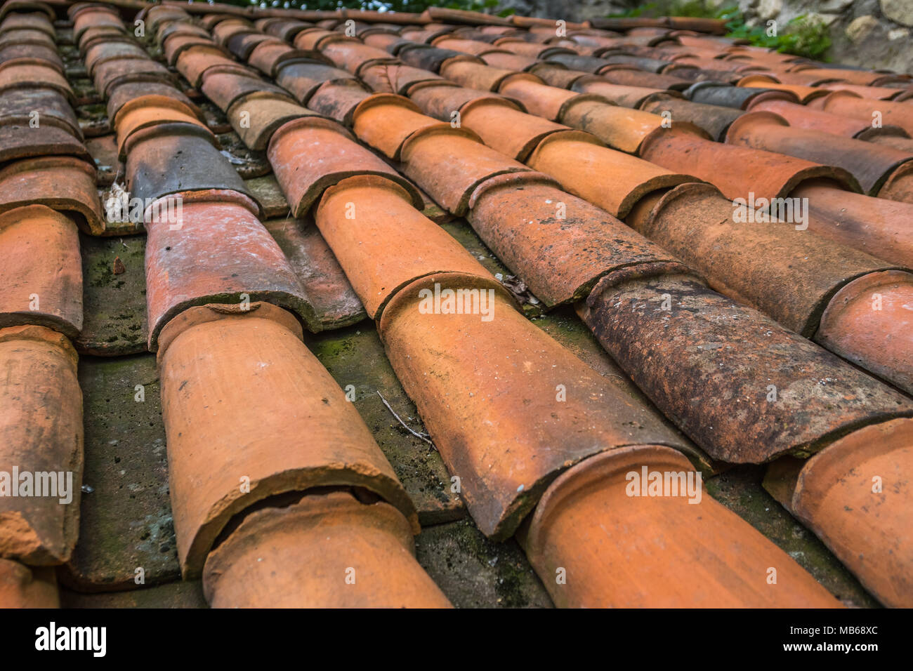 Brick Roof Texture red brick tile roof texture useful as a background stock photo