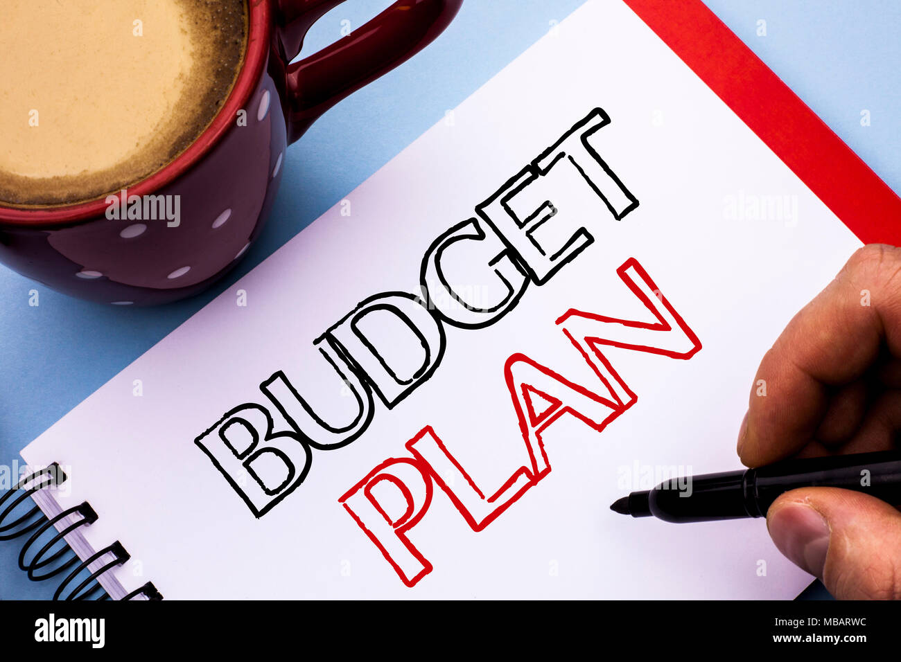 writing note showing budget plan business photo showcasing