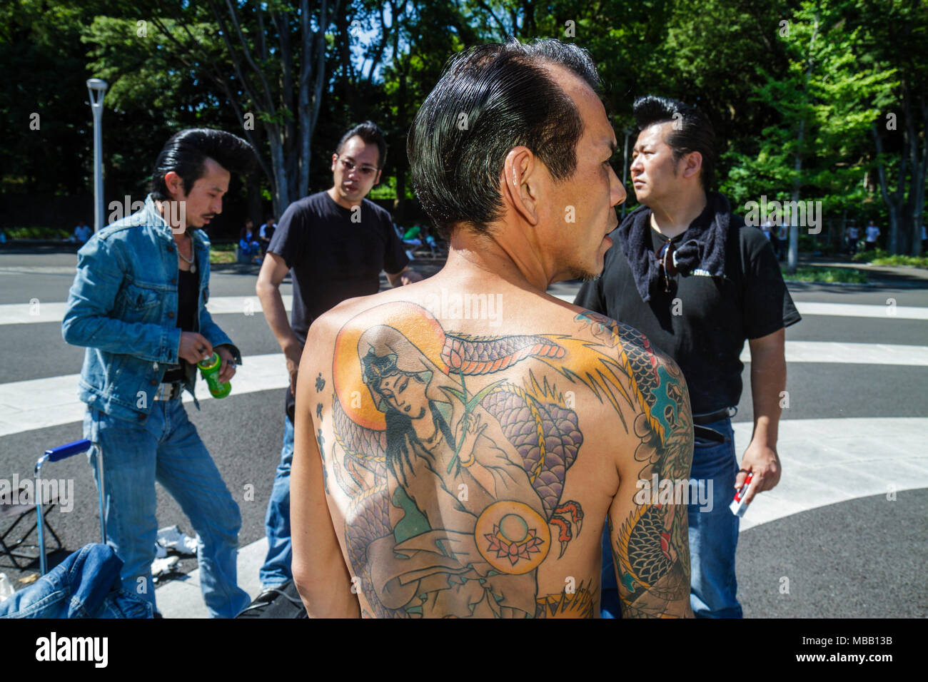 Asian gang tattoo