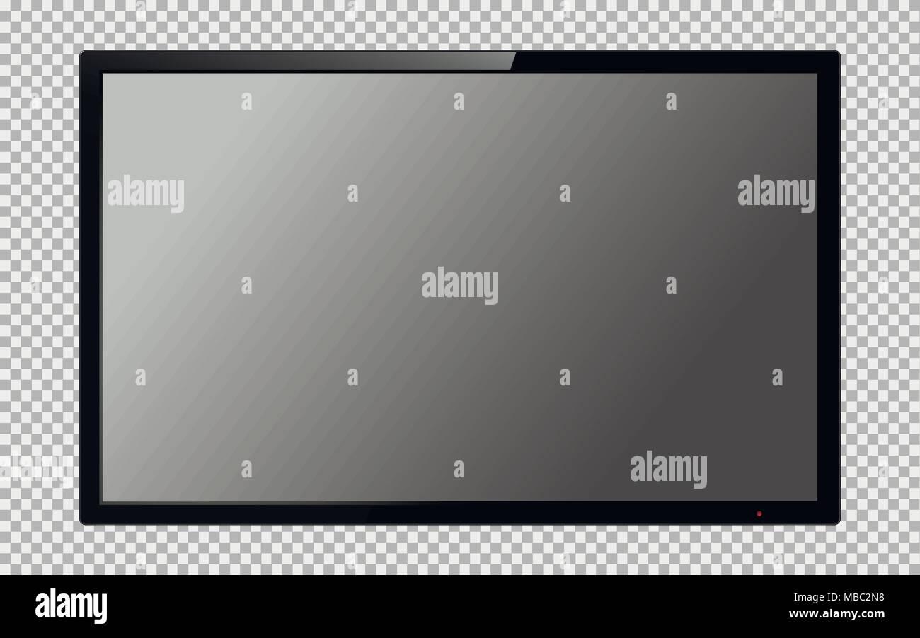 realistic tv screen computer monitor display mockup blank
