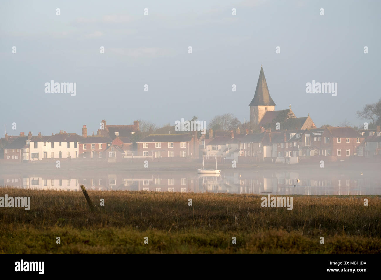 bosham west sussex 11th april 2018 uk weather the village of rh alamy com