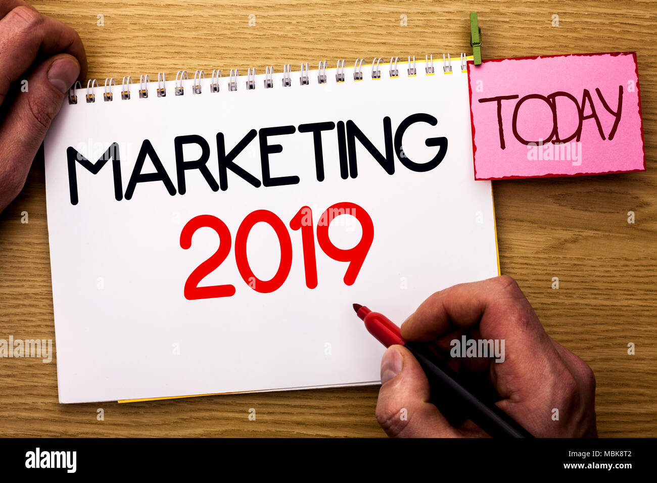 Word writing text Marketing 2019. Business concept for New Year ...