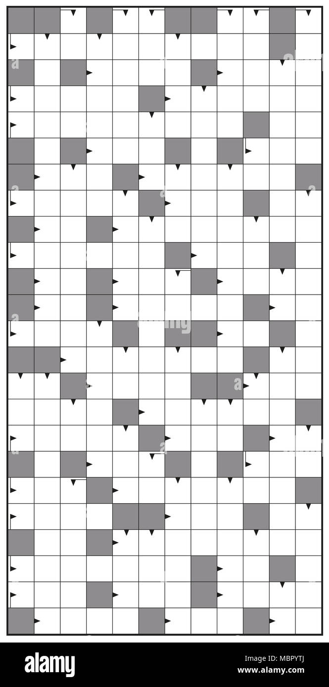 Crossword Blank Crossword Puzzle Pattern Vertical Format Template